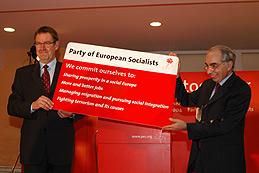 Nyrup og Guiliano Armato, næstformand hos De Europæiske Socialdemokrater (PES)